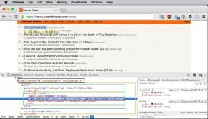 Examining the html behind the links