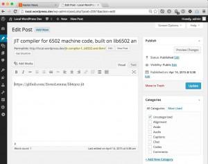 Conversion of Hacker News links to WordPress