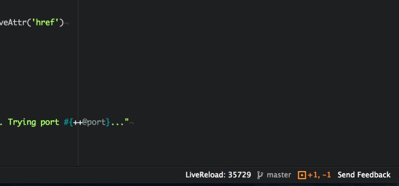 Atom Live Reload